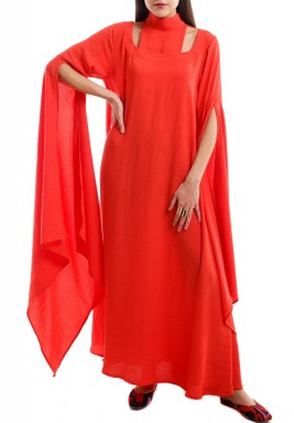 The Bibaa red kaftan