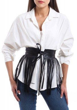 Fringe Leather belt