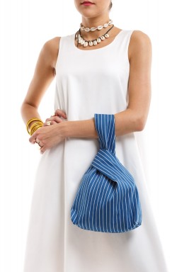 Blue Striped O Bag
