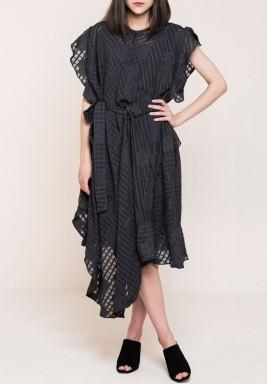 Flounce Asymmetric Dress