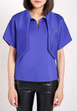 Blue neck tie top