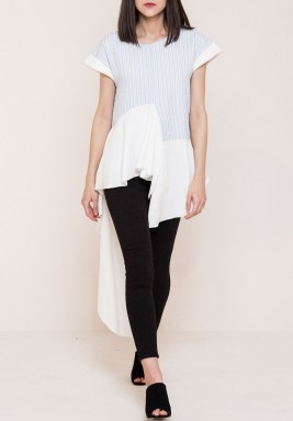 Ruffle paneled top