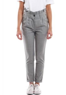 Grey Ruffled Maxi Pants