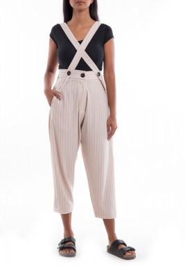 Off-White Striped Boyfriend Pants