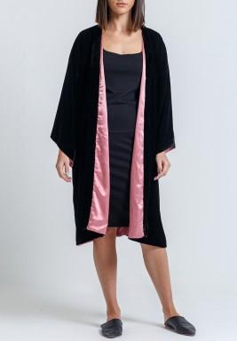 Black & Pink Double Face Kimono
