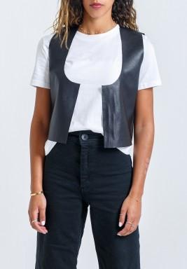 Black Sleeveless Vest
