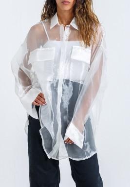 White See Through Oversized Shirt