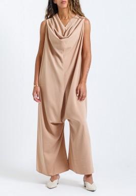 Nude Pink Oversized Jumpsuit