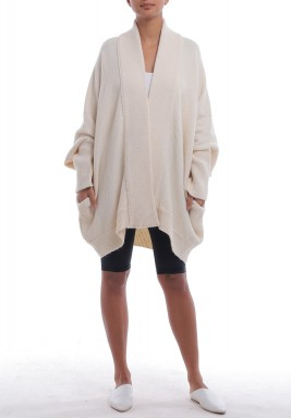 Creamy Fluffy Oversized Cardigan
