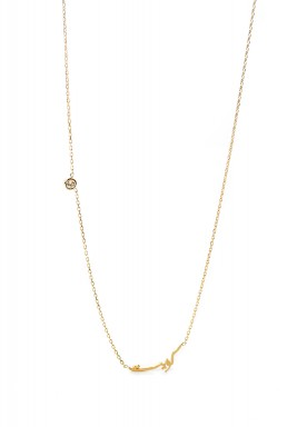 Kuwait Diamond Necklace Rose Gold
