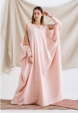Pink Slit Sleeves Kaftan