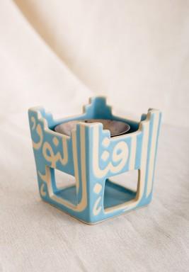 Blue Square Incense Burner