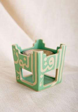 Green Square Incense Burner