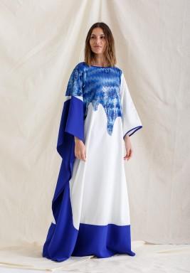 Al Noor Blue & White Kaftan