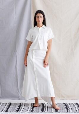 Thalia White Crop Top & Skirt