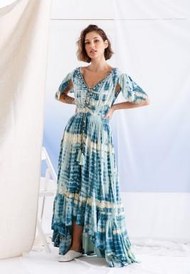 Blue Shells Dye Dress