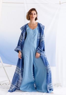 Blue Maxi Bisht