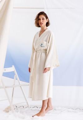 Customized Linen Beige Robe