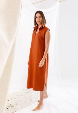 Brick Collar Dress