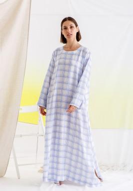White Checked Maxi Dress