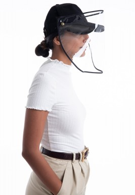 Black Face Shield Hats