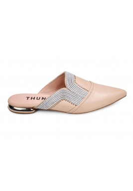 Thuraia Nude Leather Mules