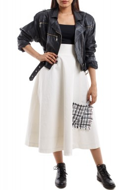 Ribbed Skirt white