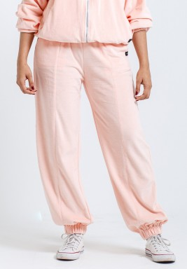 Pink Velvet Baggy Pants