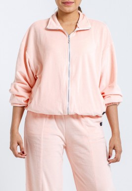 Pink Velvet Oversized Jacket