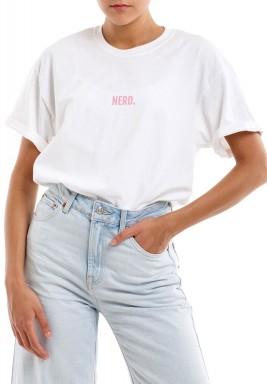 White Printed Short Sleeves T-Shirt