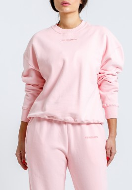 Pink Long Sleeves Sweatshirt