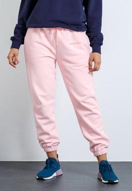 Pink Tucked Cuffs Sweatpants