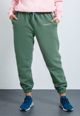 Khaki Tucked Cuffs Sweatpants