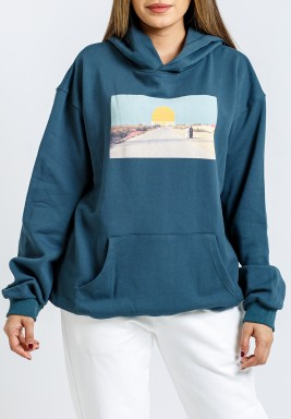 VI Blue/Teal Cotton Hoodies