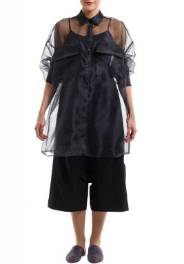 IX: Oversized Shirt Black