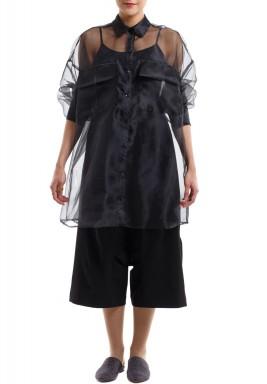 IX: Oversized Shirt Black