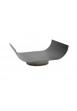 Black Wavy Small Platter Tray