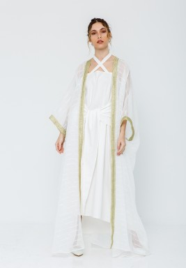 Knot Kaftan with Besht White/Gold