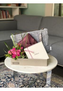 Velvet pouch set grey