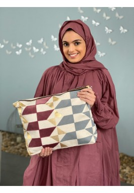 Maroon Scarf Travel Prayer Set