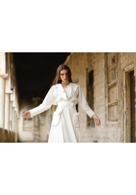 Mira White Puffed Skirt Top & Belt Set