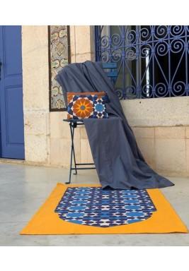 Moroccan Navy & Mustard Travel Prayer Set