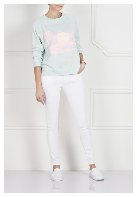 Mint & Pink Printed Sweater