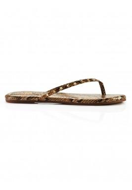 Roee snake studded flip flips