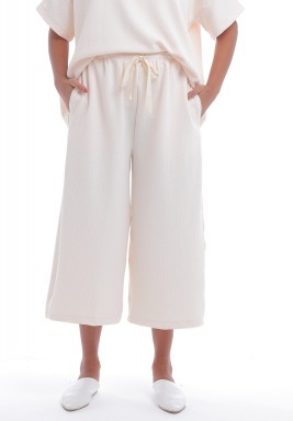 Nude Wide Legged Midi Pants