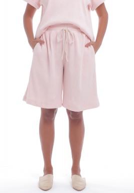 Baby Pink Drawstring Shorts