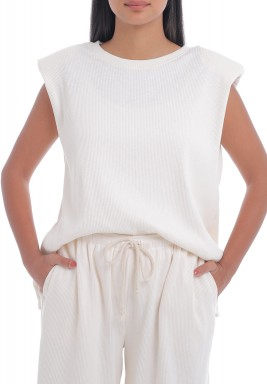 Bone Padded Shoulders Top