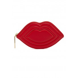 Red coin lip purse