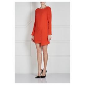 Bibelot Orange Asymmetrical Hem Dress