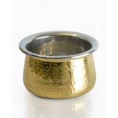 سلطانية نحاس  باللونين الذهبي والفضي